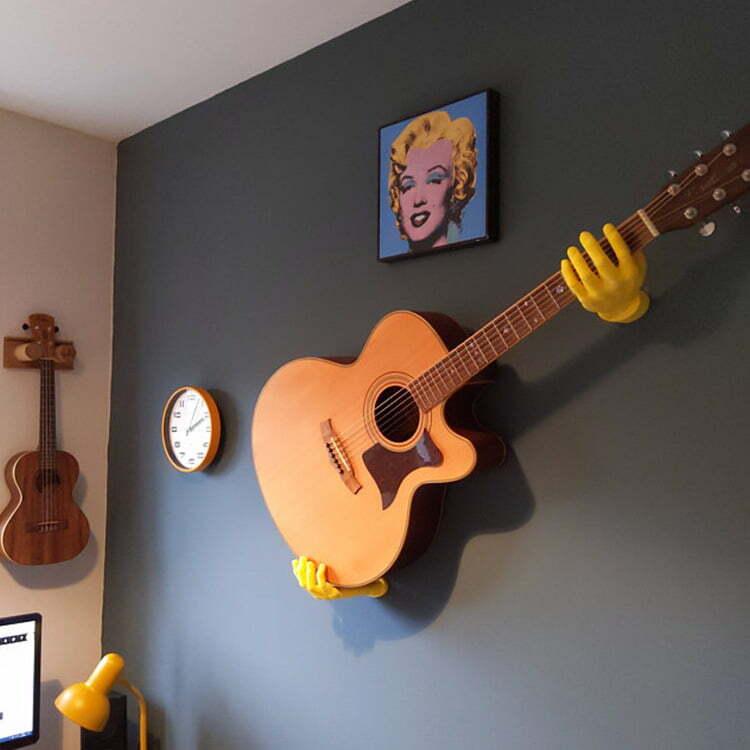 3D Hands Wall Mounted Guitar Hanger