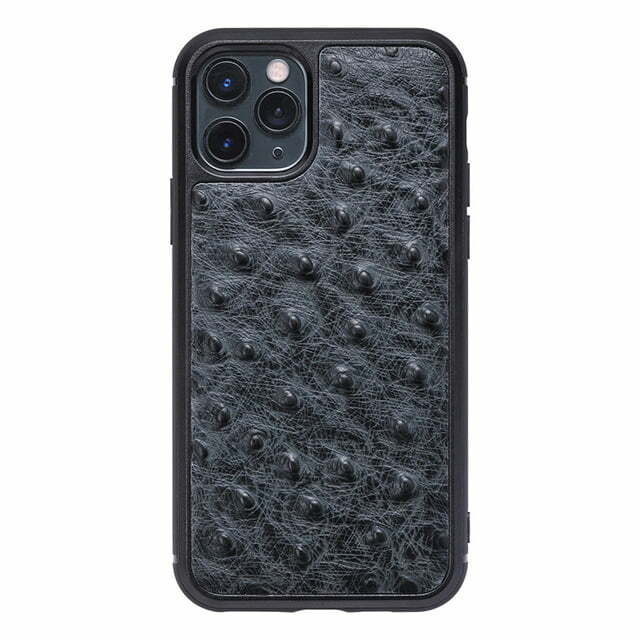 Genuine Ostrich Skin Leather iPhone 12 Pro Max Case
